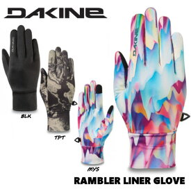 【DAKINE】 ダカイン 2019-2020 WOMENS RAMBLER LINER GLOVE レディース インナーグローブ スノーグローブ スノーボード スキー 手袋 XS-L 3カラー 【あす楽対応】