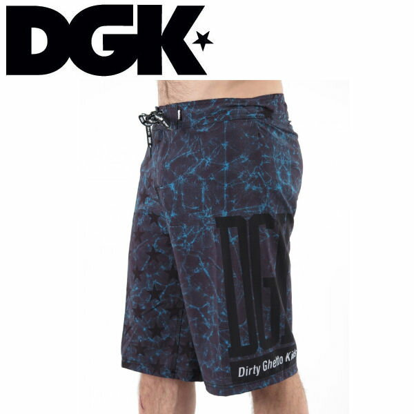 【DGK】ディージーケー2015春夏 Unfollow Bored Shorts ボードショートパンツ/カラーTurquoise/サイズ30-32/短パン 半ズボン ボトムdg15sp17【あす楽対応】