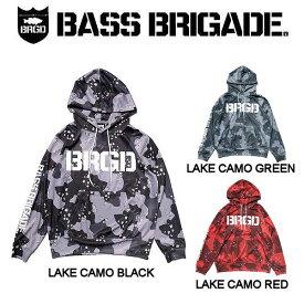【BASS BRIGADE】バスブリゲード 2019春夏 LAKE CAMO UV CUT HOODIE メンズ パーカー プルオーバー アウトドア フィッシング 釣り 3カラー S・M・L・XL