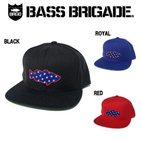 【BASS BRIGADE】バスブリゲード 2019春夏 LUNKER STARS PATCH SNAPBACK HAT メンズ キャップ スナップバック 3カラー