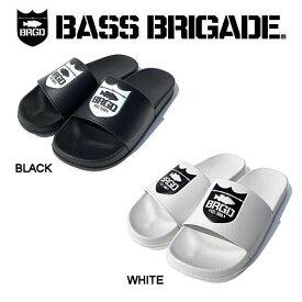 【BASS BRIGADE】バスブリゲード 2019春夏 SHIELD LOGO SANDAL メンズ サンダル スリッパ 内履き アウトドア フィッシング 釣り 2カラー 26・27・28