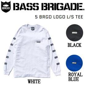 【BASS BRIGADE】バスブリゲード 2020秋冬 5 BRGD LOGO L/S TEE メンズ ロングスリーブTシャツ ロンT アウトドア フィッシング 釣り S/M/L/XL 3カラー【あす楽対応】
