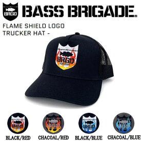 【BASS BRIGADE】バスブリゲード 2021春夏 FLAME SHIELD LOGO TRUCKER HAT キャップ 帽子 スナップバック アウトドア フィッシング ONE SIZE 4カラー【あす楽対応】