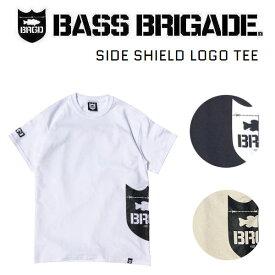 【BASS BRIGADE】バスブリゲード 2020春夏 SIDE SHIELD LOGO TEE メンズ Tシャツ 半袖 アウトドア フィッシング 釣り S/M/L/XL 3カラー【あす楽対応】