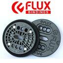 【FLUX BINDING 】フラック ビンディング バートンEST板用 2ホール ディスク プレート BURTON ESTのボードに取り付けるパーツ 2HOL...