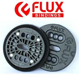 【FLUX BINDING 】フラック ビンディング バートンEST板用 2ホール ディスク プレート BURTON ESTのボードに取り付けるパーツ 2HOLE DISCS バインディングパーツ