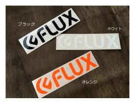 【FLUX BINDING】フラックス LOGO DIECUT STICKER Large ロゴカッティングステッカー 22cm×5.3cm