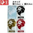【NESTA BRAND】ネスタブランド New縦ステッカー大サイズ/15.4cm×24.4cm/ホワイト・ブラック・ゴールド・レッド【あす楽対応】