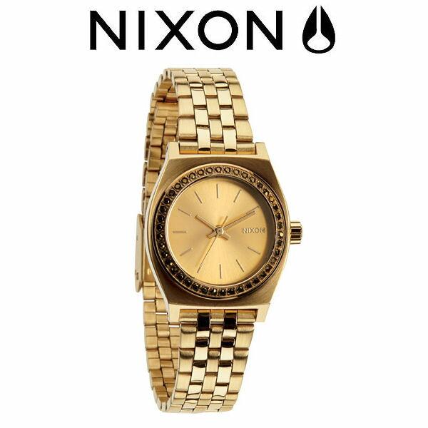【NIXON】ニクソン 2014秋冬/THE SMALL TIME TELLER レディースウォッチ アナログ腕時計/ALL GOLD CRYSTAL【あす楽対応】