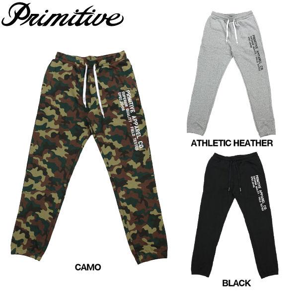 【Primitive】プリミティブ2015春夏/PRI STANDARD SWEAT PANTS メンズスエットパンツ 長スボン ロングパンツ/30〜34/3カラー【あす楽対応】