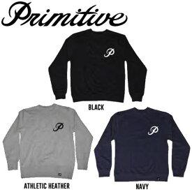 【Primitive】プリミティブ 2016 CLASSIC P CREWNECK クルーネックトレーナー 長袖トレーナー 3カラー