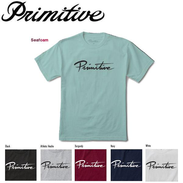 【Primitive】プリミティブ 2017秋冬 NUEVO SCRIPT CORE TEE メンズ 半袖Tシャツ ティーシャツ トップス S・M・L 6カラー【あす楽対応】