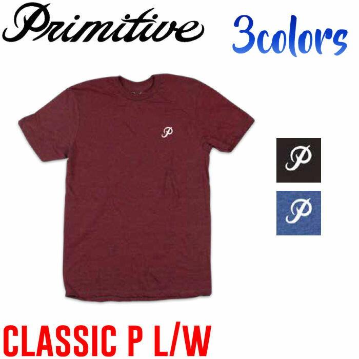 【Primitive】プリミティブ2017春夏 CLASSIC P LIGHT WEIGHT TEE メンズ半袖Tシャツ ティーシャツ スケートボード S・M・L 3カラー【あす楽対応】
