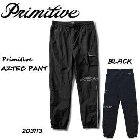 【Primitive】プリミティブ 2020秋 FALL フォール AZTEC PANT アステカパンツ ジョガーパンツ カーゴポケット パイピングライン メンズ BLACK ブラック M・L・XL【正規品】