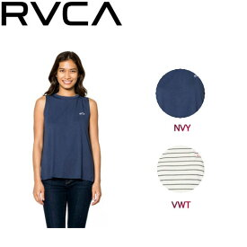 【RVCA】ルーカ2018春夏 EYE BACK レディース タンクトップ ノースリーブシャツ トップス XS・S NVY・VWT