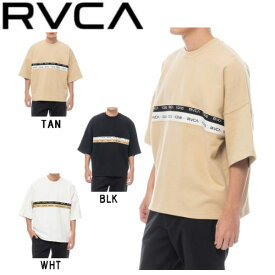 【RVCA】ルーカ 2020春夏 RVCA メンズ 2TONE JQ TAPE RVCA トレーナー 半袖トップス サーフィン スケートボード S・M・L・XL 3カラー【あす楽対応】