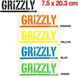 【GRIZZLY】グリズリー ロゴステッカー SKATEBOARD 7.5×20.3cm