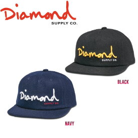 【DIAMOND SUPPLY CO】ダイアモンド 2017秋冬 OG SCRIPT UNCONSTRUCTED SNAPBACK HO17 スナップバック 帽子 キャップ 2カラー