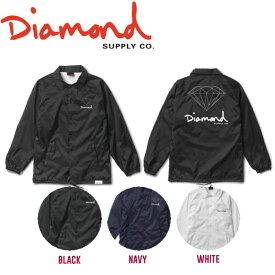【DIAMOND SUPPLY CO】ダイアモンド 2017秋冬 OG SIGN COACHES JACKET HO17 メンズ コーチジャケット ライトジャケット ロングスリーブ M・L 3カラー