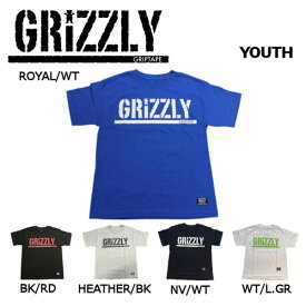 【GRIZZLY】グリズリー 2018春夏 STAMP S/S YOUTH T-SHIRTS KIDS キッズ 半袖Tシャツ TEE ティーシャツ ボーイズ スケートボード S・M・L・XL 5カラー