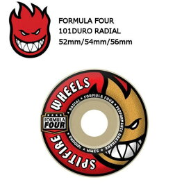 【SPIT FIRE】SPITFIRE WHEELS スピットファイア FORMULA FOUR 101DURO RADIAL ウィール スケートボード 52mm・54mm・56mm(4個1セット)【あす楽対応】