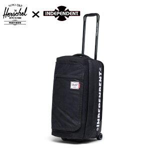 【HERSCHEL×INDEPENDENT】ハーシェル×インディペンデント コラボ Wheelie Outfitter Luggage 70L キャリーバッグ ケース スケートボード ブラック【あす楽対応】