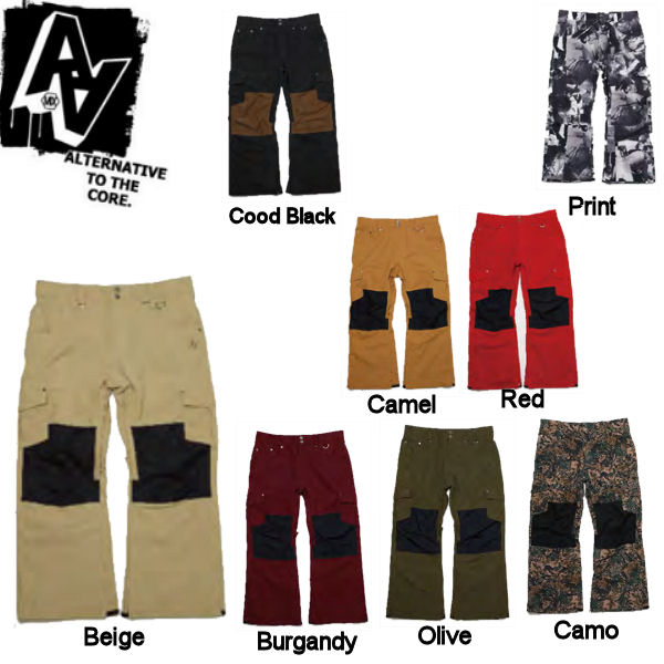 【AA HARD WEAR】ダブルエーハードウェア ウエア 14-15 Dirt Pants メンズ スノーパンツ 男性用スノーボードウェア ウエア/S・M・L・XL/8カラー【あす楽対応】