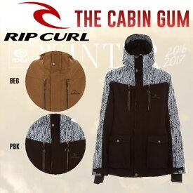 【RIP CURL】リップカール2016-2017 THE CABIN GUM JKT メンズスノージャケット スノーボードウェア 2カラー M・L