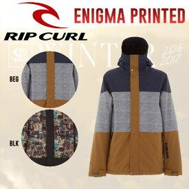 【RIP CURL】リップカール2016-2017 ENIGMA PRINTED JKT メンズスノージャケット スノーボードウェア 2カラー M・L