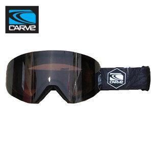 【CARVE】カーブ INFINITY スノーゴーグル フレームレス 平面 ゴーグル Matt Black Rose Low Light Lens with Silver Mirror ASIAN FIT レディース ジュニア向け