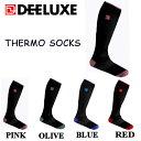 【DEELUXE】ディーラックス サーモソックス スノーボード 靴下 ハイソックス ユニセックス メンズ レディース スノーボード スキー ソックス S・M・L 【限定】4カラー PINK OLIVE