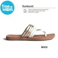 【freewaters】フリーウォータース2018春夏Sunburstレディースビーチサンダルビーサン靴23cm-25cm【あす楽対応】