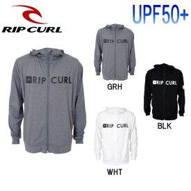 【RIP CURL】リップカール RASH PARKA メンズ ラッシュパーカー ラッシュガード ジップアップパーカー トップス S-XL 3カラー