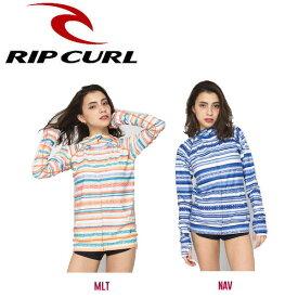 【RIP CURL】リップカール2017春夏 SUN GYPSY ZIP UP RASH レディース ラッシュガード 長袖ジップアップパーカー ロングスリーブ 紫外線対策 M・L 2カラー