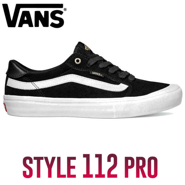 【VANS】バンズ2017秋冬 STYLE 112 PRO メンズ シューズ 靴 スニーカー BlackBlackWhite 25.5cm-28.5cm 【あす楽対応】
