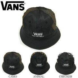 【VANS】バンズ 2019秋冬 Crazy Pattern Bucket Hat メンズ バケットハット 帽子 キャップ 3カラー Checker Camo Animal【あす楽対応】