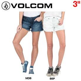 【VOLCOM】ボルコム2016春夏 STONED SHORT 3″レディースショートパンツ ショーパン デニム 0〜7 2カラー【あす楽対応】【正規品】