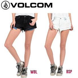 【VOLCOM】ボルコム2016春夏 Stoned Short Rolled レディースショートパンツ ロールアップ デニム 0〜5 2カラー【あす楽対応】【正規品】