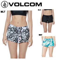 【VOLCOM】ボルコム 2019春夏 VOL Swim Rash Shorts レディース サーフパンツ ボードショーツ 水着 サーフィン S・M