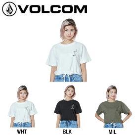 【VOLCOM】ボルコム 2019春夏 SKATING PARTY S/S CROP TEE レディース 半袖Tシャツ ティーシャツ トップス S・M 2カラー【正規品】