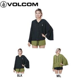 【VOLCOM】ボルコム 2019春夏 VOL ACTIVE MESH HOOD PONCHO レディース ラッシュポンチョ ラッシュガード ジップアップパーカー トップス M 2カラー【あす楽対応】【正規品】