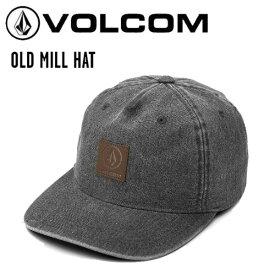 【VOLCOM】ボルコム 2020秋冬 OLD MILL HAT キャップ 帽子 ベルト調整 メンズ スケートボード スノーボード ストリート ONE SIZE ブラック【正規品】【あす楽対応】