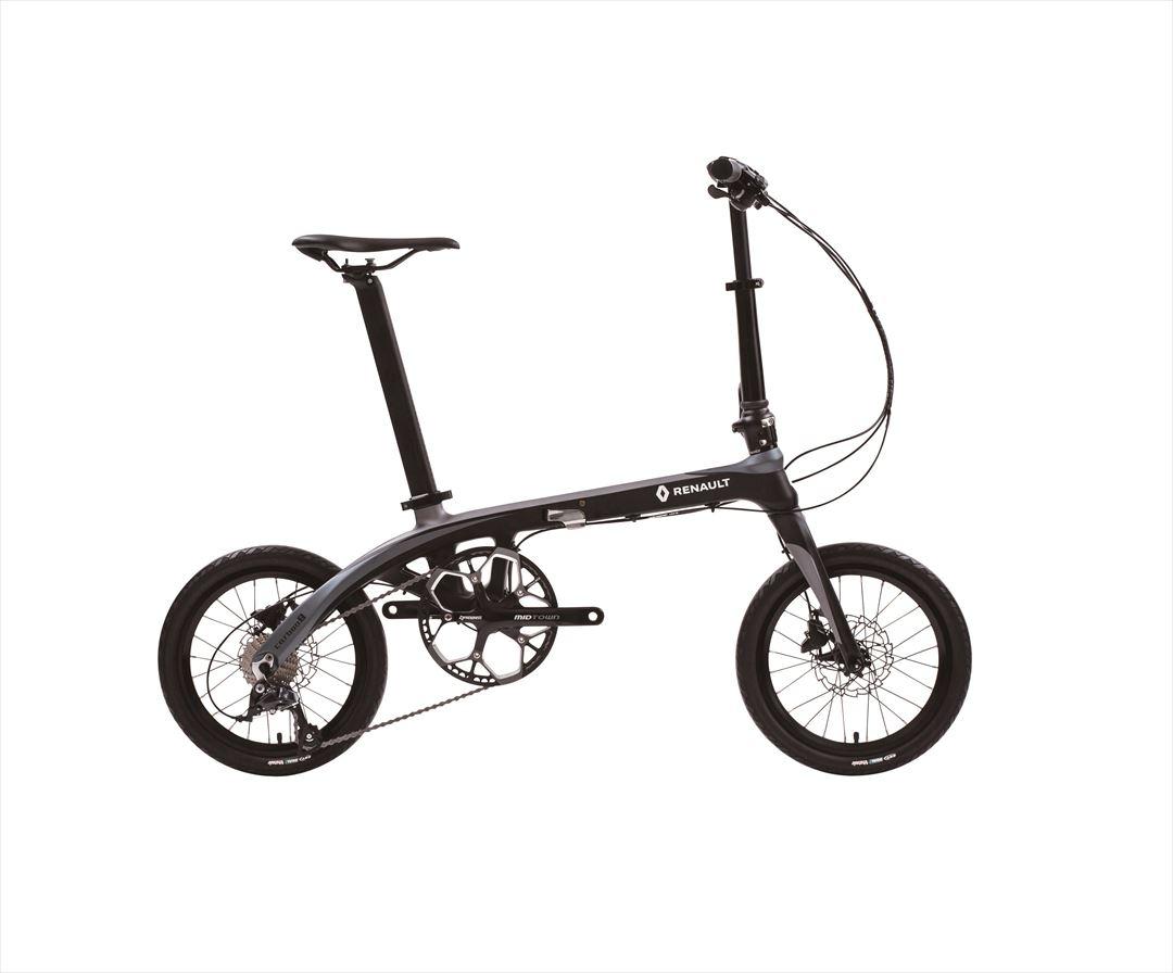 配送先関東限定 2018年モデル 送料無料 自転車 ルノー(RENAULT) カーボンフレーム ブラック 自転車 外装9段ギア 折りたたみ自転車 16インチ 軽量 折りたたみ自転車 ルノー  RENAULT Carbon 8 (カーボン8 C169) おしゃれ