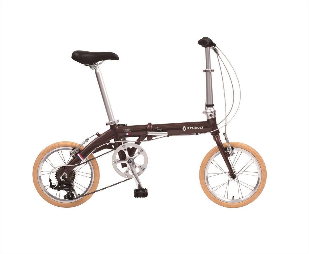 配送先関東限定 2018年モデル 送料無料 自転車 ルノー(RENAULT) 自転車 折りたたみ自転車 ブラウン 16インチ 軽量 6段ギア 折りたたみ自転車 ルノー LIGHT9 Nouveau (AL-FDB166)
