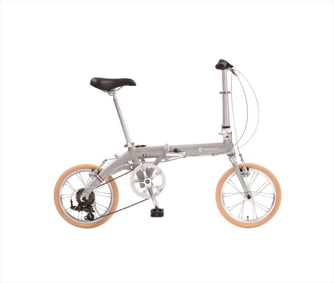 【1/25 10時〜エントリでポイント最大17倍】2018年モデル 送料無料 自転車 ルノー(RENAULT) 自転車 折りたたみ自転車 グレー 16インチ 軽量 6段ギア 折りたたみ自転車 ルノー LIGHT9 Nouveau (AL-FDB166)
