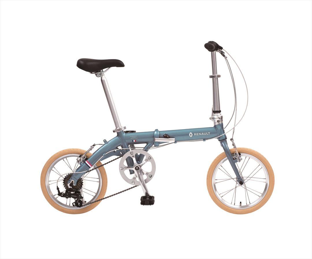 配送先関東限定 2018年モデル 送料無料 自転車 ルノー(RENAULT) 自転車 折りたたみ自転車 ラグーンブルー 16インチ 軽量 6段ギア 折りたたみ自転車 ルノー LIGHT9 Nouveau (AL-FDB166) おしゃれ