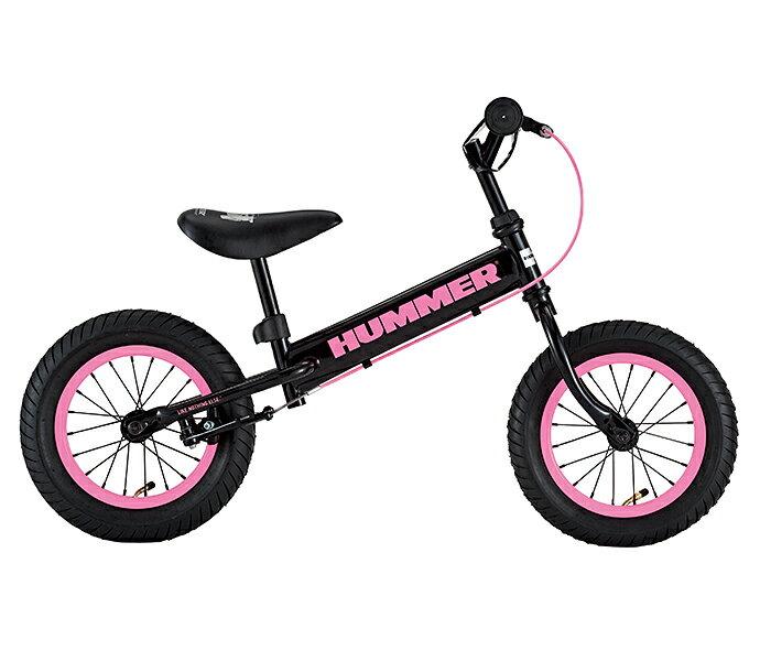 配送先関東限 HUMMER TRAINEE BIKE ピンク トレーニングバイク ブレーキ付き 極太タイヤ ペダルなし 自転車 ランバイク クリスマス