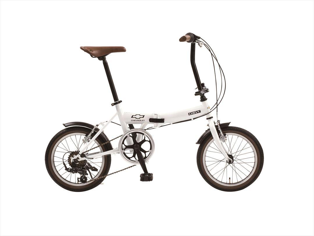 配送先関東限定 2018年モデル 送料無料 シボレー 折りたたみ自転車 16インチ 折りたたみ自転車 外装6段変速ギア  CHEVY Classic CHEVY FDB166 ホワイト 白 おしゃれ