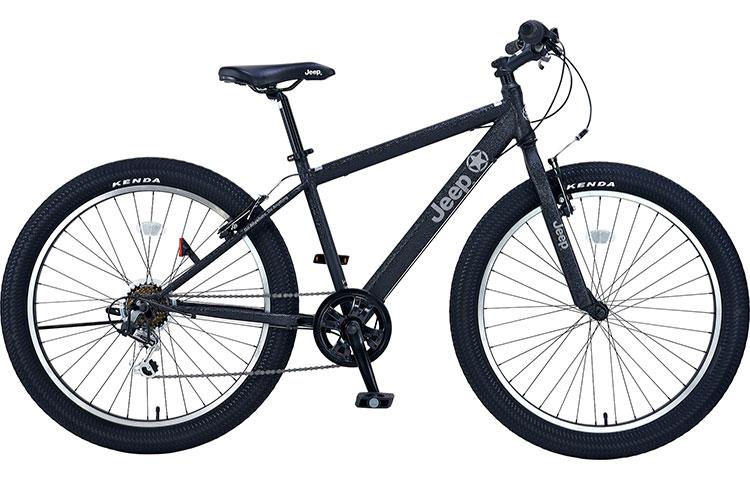 ジープ 自転車 ファットバイク JEEP 26インチ 外装7段変速ギア ディスクブレーキ 2018年モデル マウンテンバイク 送料無料 18'JE-266FT 26×3.0Tire 6S FAT-BIKE セミファットタイヤ ブラック 黒 通販 おしゃれ