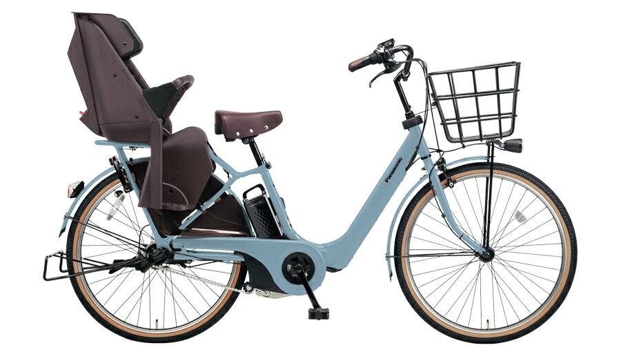 電動自転車 パナソニック Panasonic ギュット・アニーズ・F・DX 26インチ 電動アシスト自転車 2018年モデル BE-ELA63V2 マットブルーグレー